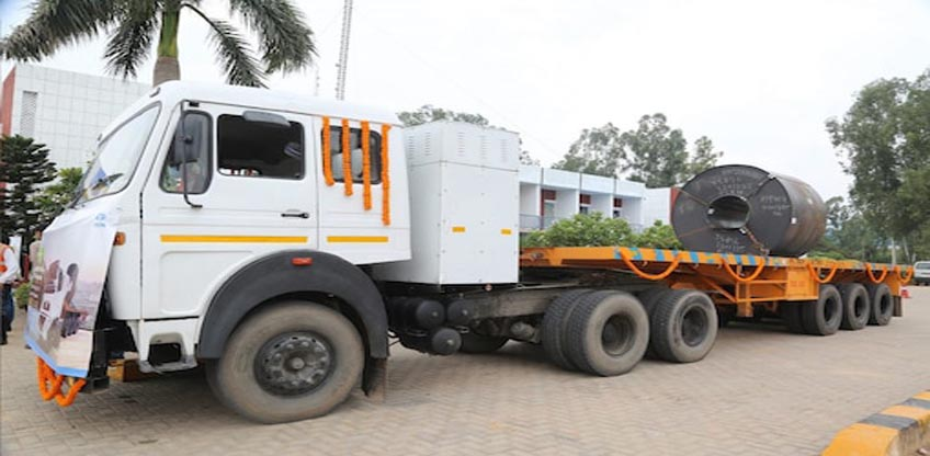 Tata Steel deployed 27 electric trucks for the transportation of finished steel rolls in India